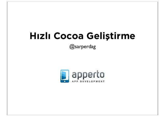 Hızlı Cocoa Geliştirme        @sarperdag