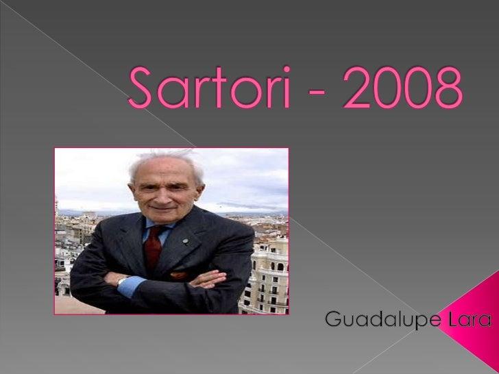 Sartori - 2008<br />Guadalupe Lara<br />