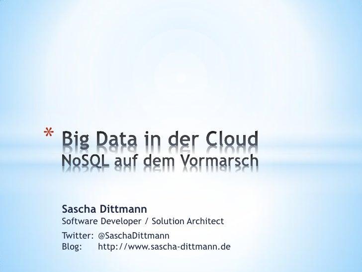 Sascha Dittmann, Ernst & Young: Big Data in der Cloud