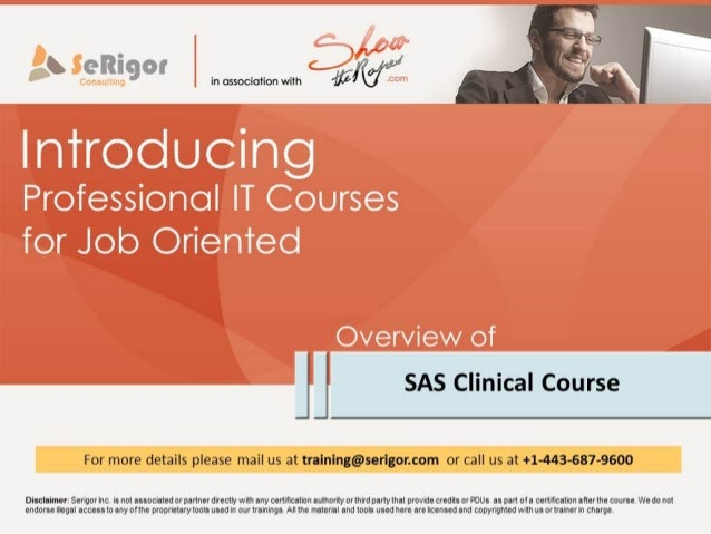 SAS Clinical Training and Placement Program by Showtheropes