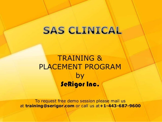 SAS Clinical Training and Placement Program