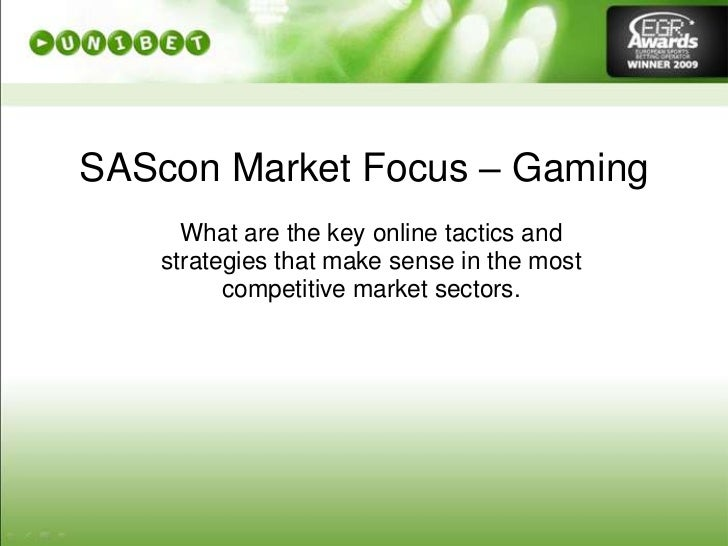 Sascon : iGaming online SEO tactics and strategies