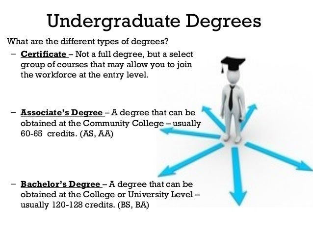 What are the different types of Degrees available for school?