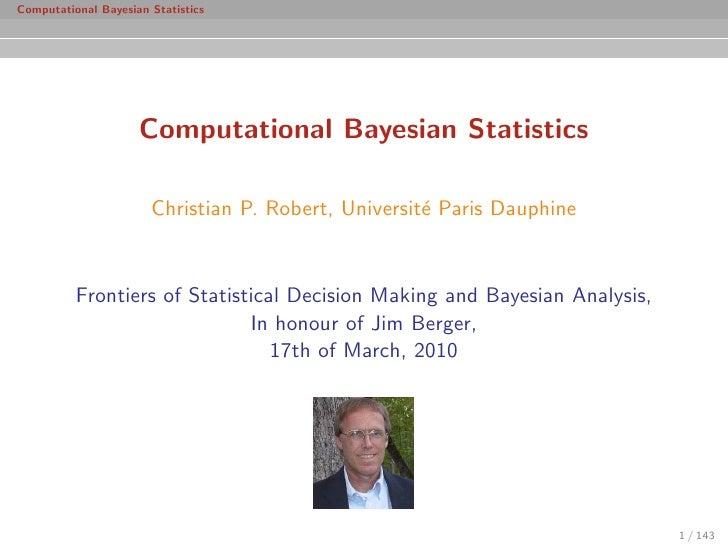 Course on Bayesian computational methods