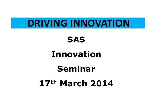 Innovations from SAS