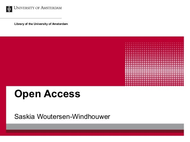 Library of the University of AmsterdamOpen AccessSaskia Woutersen-Windhouwer