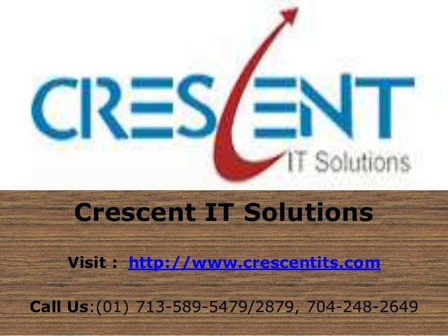 SAS OC Online Training and Placement @ Crescent IT Solutions
