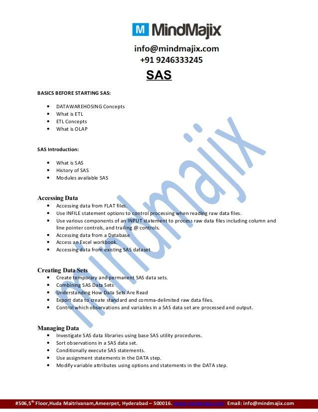 Sas online training institute