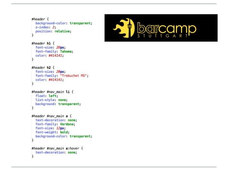Sass & Compass (Barcamp Stuttgart 2012)