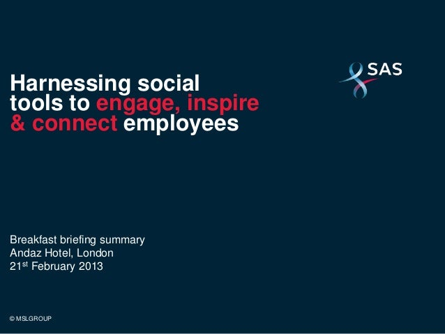 SAS Social Engagement Event Summary