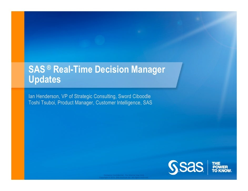 SAS + Ciboodle @ Customer Intelligence User Conf