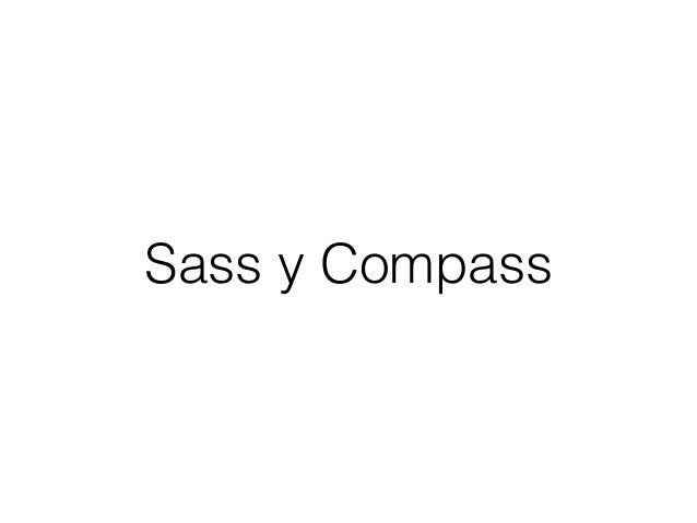 Sass y Compass