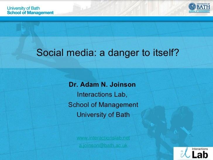 Digital crowding: When social media goes bad
