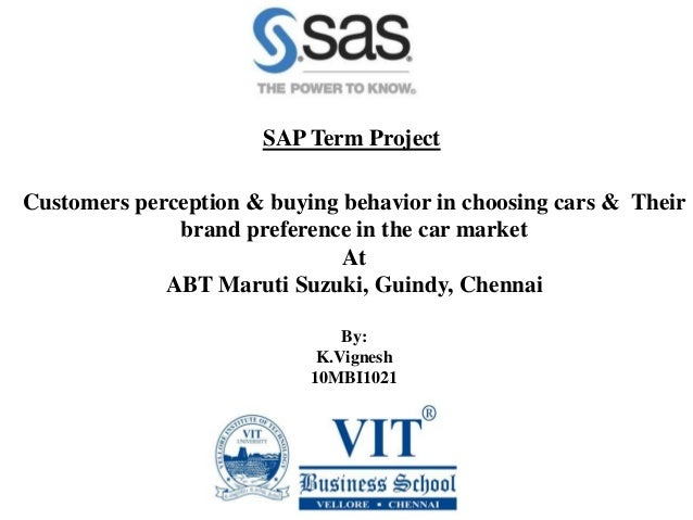 consumer buying behaviour on car market project report A project report on buying behavior - free download as word doc (doc   mahindra & mahindra (m&m), the market leader in multi-utility vehicles in india,  today.