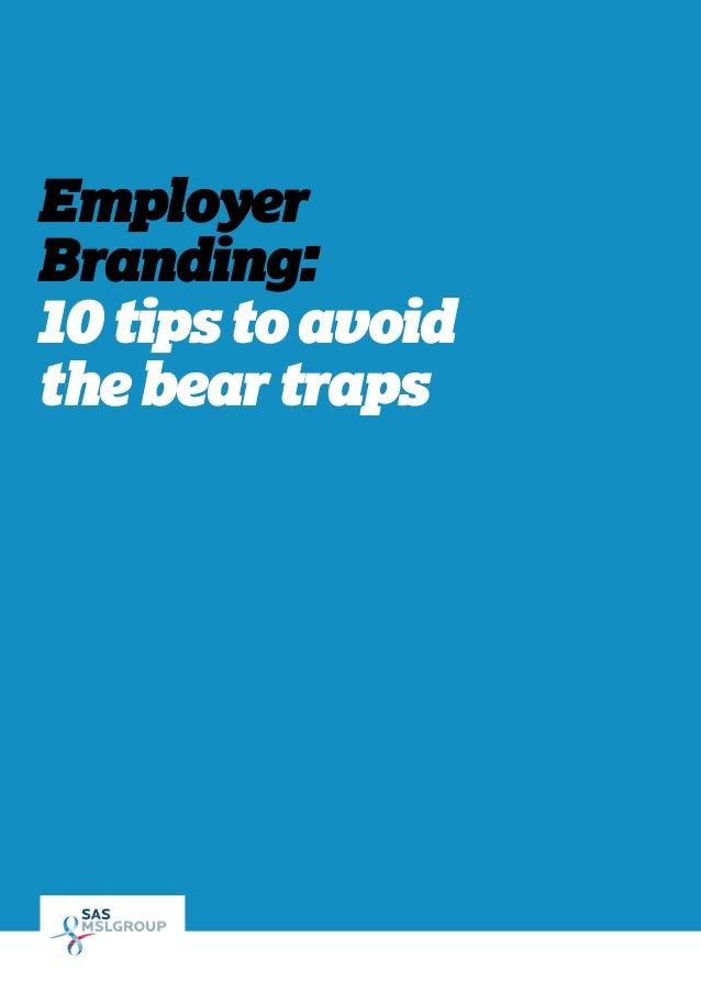 Employer Branding - 10 tips to avoid the bear traps