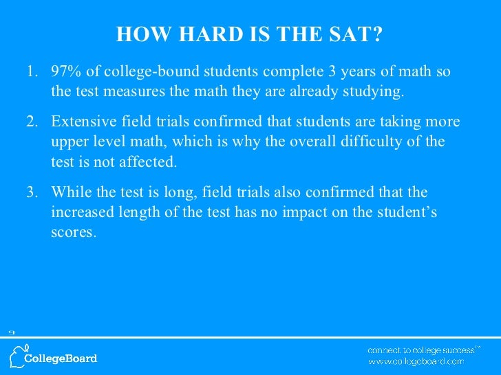 How hard is the SAT?