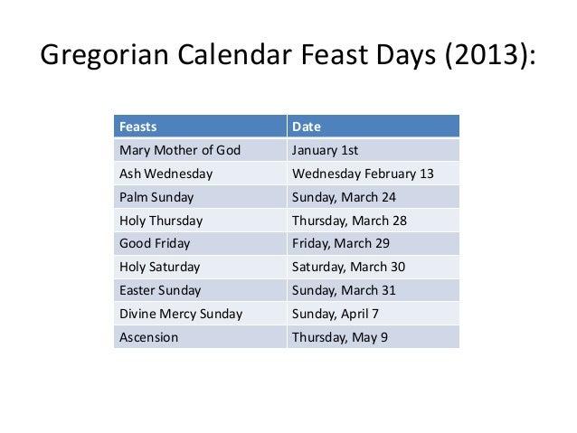 Roman Calendar 2013 Satanic origin of the gregorian calendar