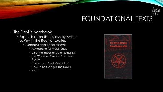 essays on satanism Black goat cabal essays what is satanism below is a slightly revised version of a pamphlet that was originally distributed by diane vera at the new york city pagan pride day festival.