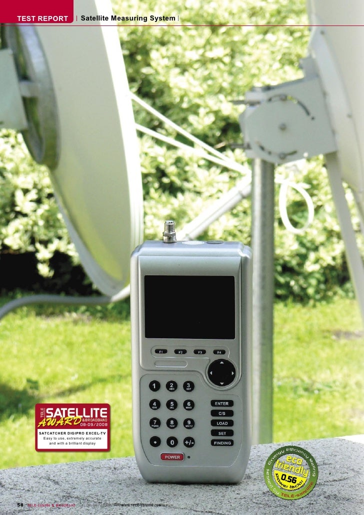 TEST REPORT                   Satellite Measuring System                                   08-09/2008           SATCATCHER...