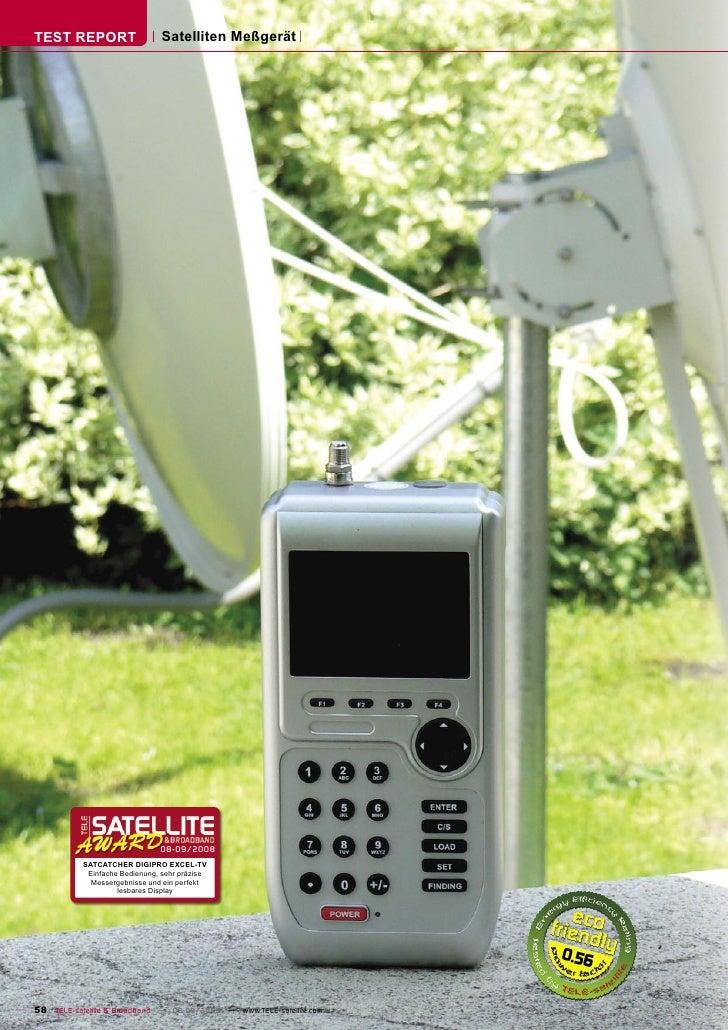 TEST REPORT                    Satelliten Meßgerät                                    08-09/2008            SATCATCHER DIG...