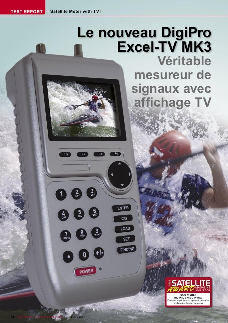 TEST REPORT                   Satellite Meter with TV                                                       Le nouveau Dig...