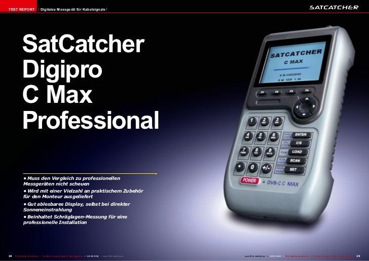 TEST REPORT                    Digitales Messgerät für Kabelsignale            SatCatcher            Digipro            C ...