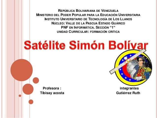 REPÚBLICA BOLIVARIANA DE VENEZUELA MINISTERIO DEL PODER POPULAR PARA LA EDUCACIÓN UNIVERSITARIA INSTITUTO UNIVERSITARIO DE...
