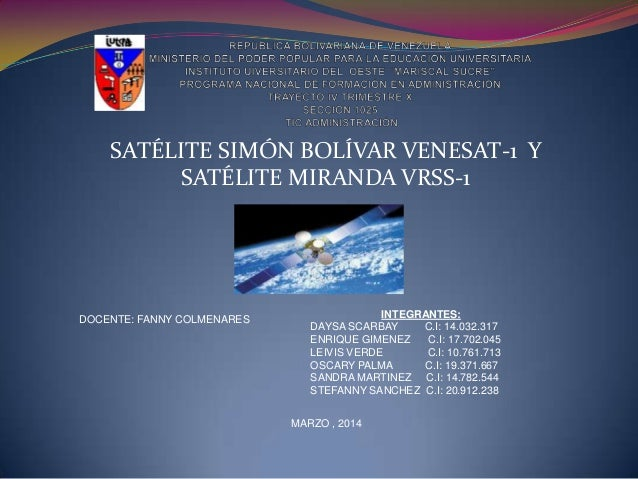 satelite simon bolivar y satelite miranda