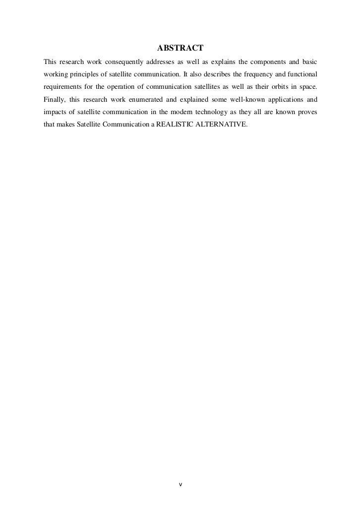 Satellite communications term paper