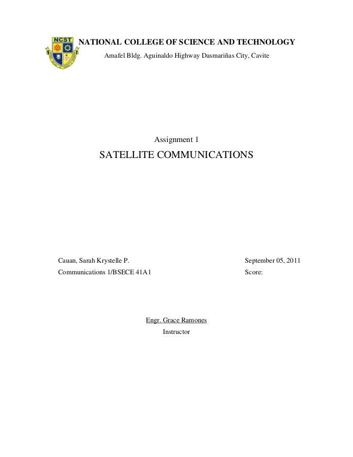 Satellite communication cauan