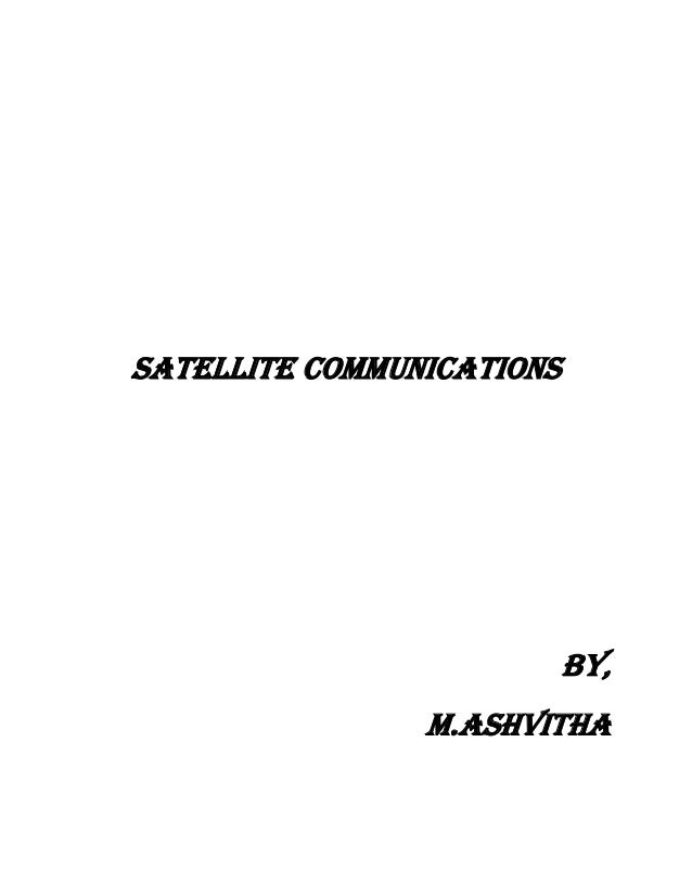 Satellite Communications BY, m.ashvitha