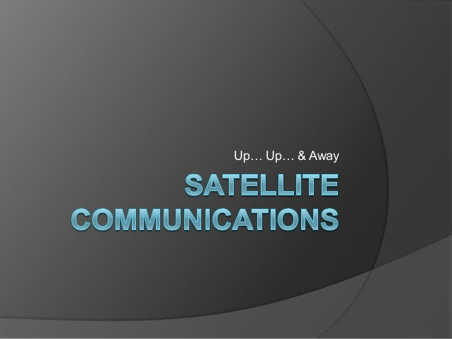 Satellite communications school presentation