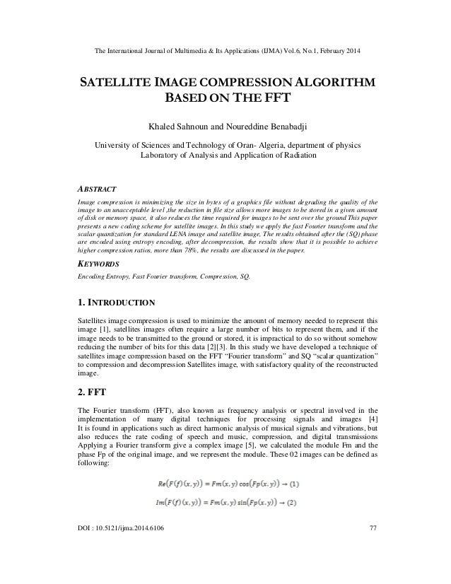 The International Journal of Multimedia & Its Applications (IJMA) Vol.6, No.1, February 2014 DOI : 10.5121/ijma.2014.6106 ...