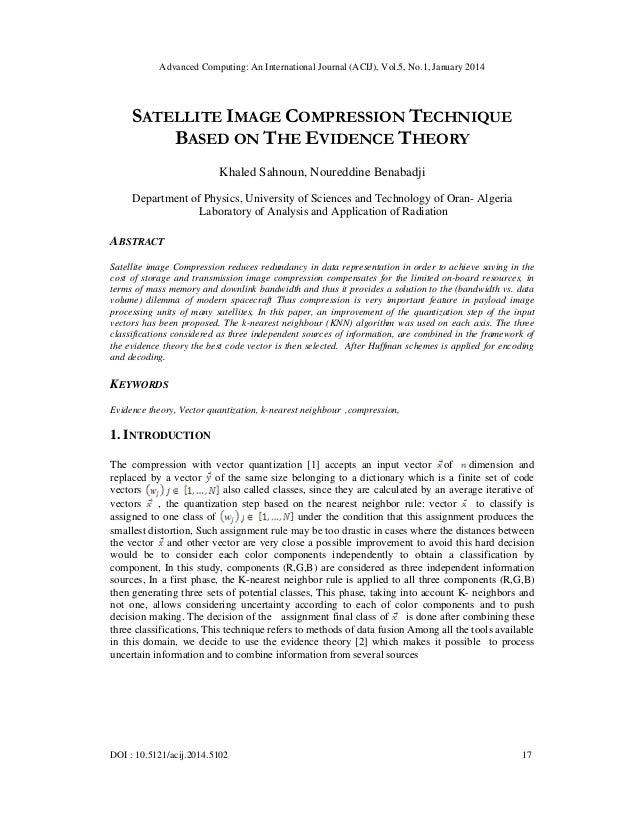 Satellite image compression technique