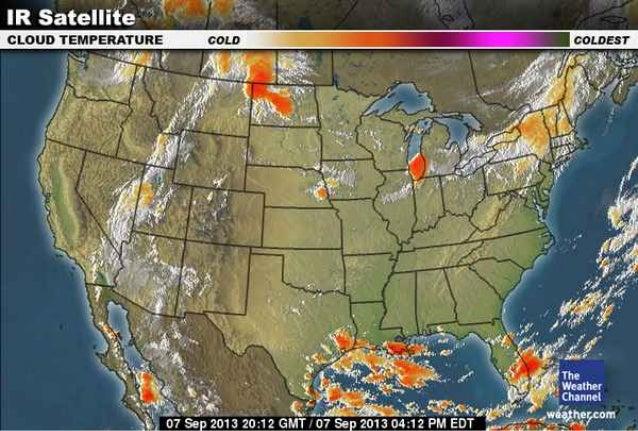 Midlatitude Cyclone Satellite Images Fall 2013