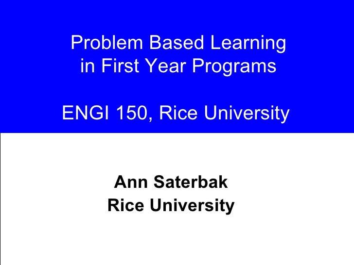 Saterbak Rice 1st Year Engineering