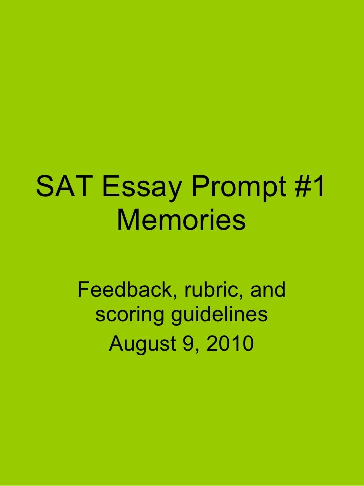 SAT Essay Guidelines?