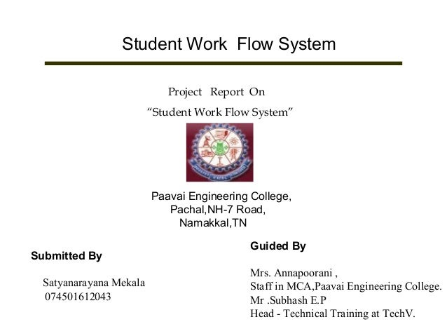 Student Work Flow System
