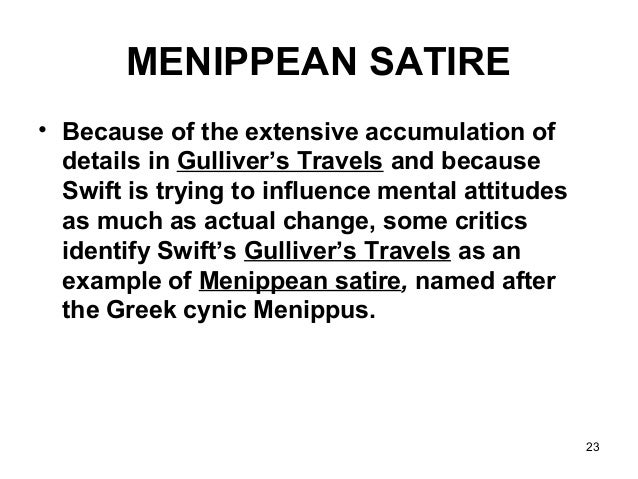 Examples Of A Satire Essay