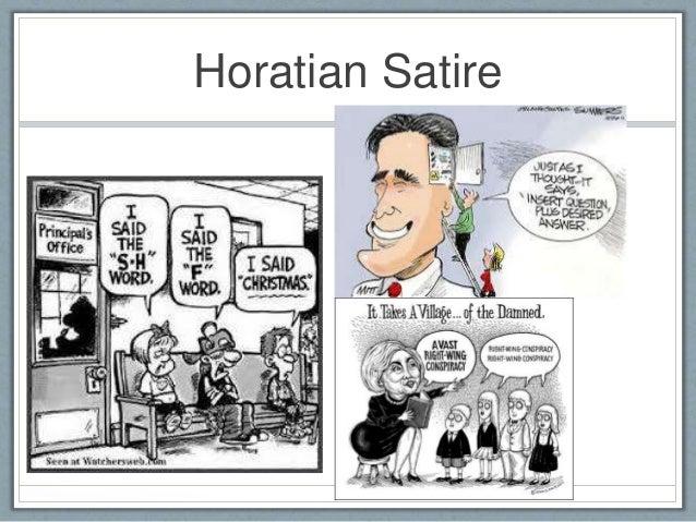 Satire lino for Farcical satire