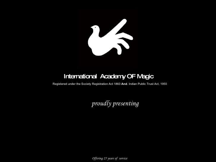 Satish deshmukh's  magic workshop