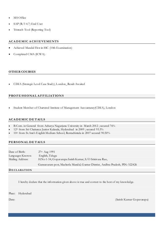 satish resume