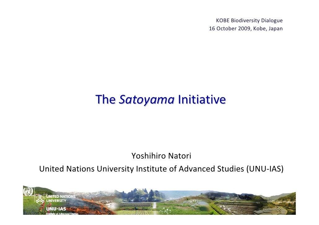 Satoyama Initiative by Yoshihiro Natori