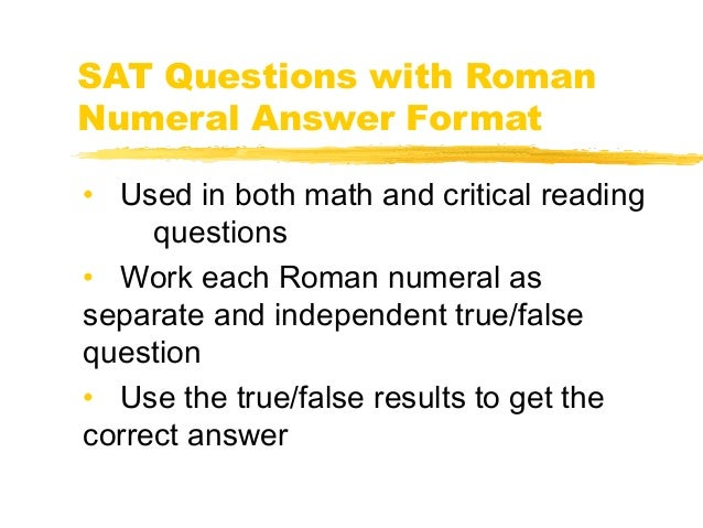 Question about the SAT format?