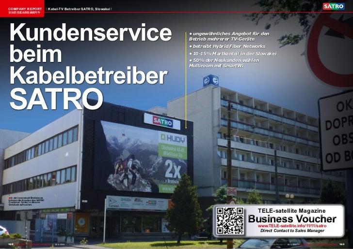 COMPANY REPORT                           Kabel-TV Betreiber SATRO, Slowakei该独家报道由高级编辑所作Kundenservice                      ...