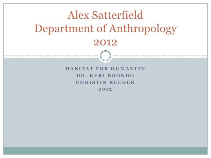 Alex Satterfield HCD Presentation   Habitat for Humanity of Memphis