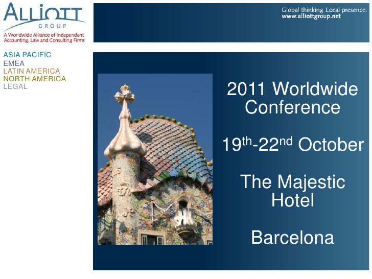 ASIA PACIFICEMEALATIN AMERICANORTH AMERICALEGAL                2011 Worldwide                  Conference                1...