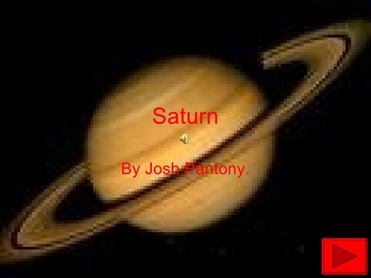 Saturn By Josh Pantony.