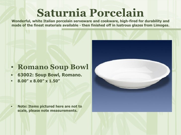 Saturnia Porcelain Wonderful, white Italian porcelain serveware and cookware, high-fired for durability and made of the fi...