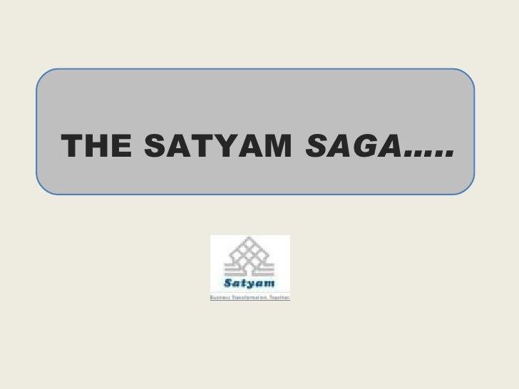 The Satyam saga